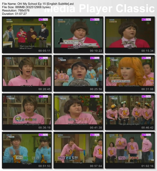 Oh! My School Ep 15 w/Onew (SHINee ) G.O (MBLAQ) ENG SUB ...