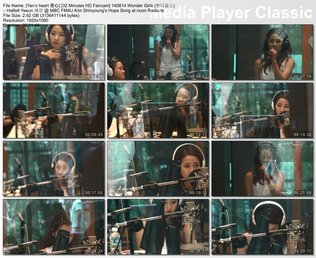 [Yen's heart 恩心] [32 Minutes HD Fancam] 140814 Wonder Girls (원더걸스) – Hatfelt Yeeun 예은 @ MBC FM4U Kim Shinyoung's Hope Song at noon Radio.ts_thumbs_[2015.08.30_00.46.26]