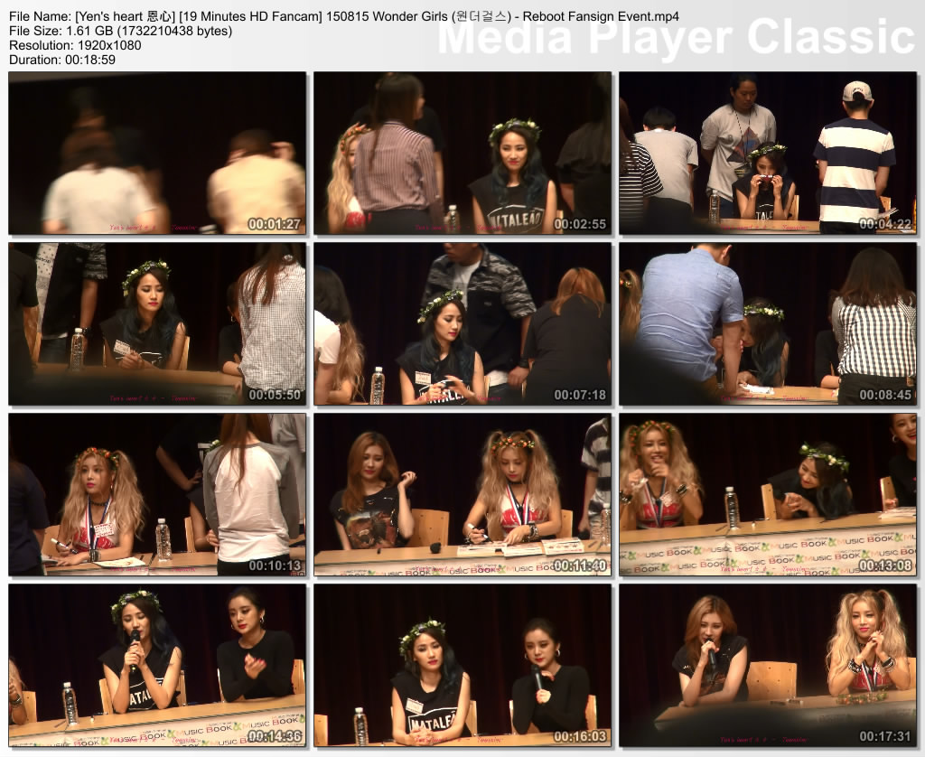 [Yen's heart 恩心] [19 Minutes HD Fancam] 150815 Wonder Girls (원더걸스) - Reboot Fansign Event.mp4_thumbs_[2015.08.25_21.01.41]